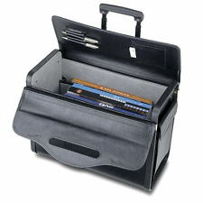 """19"""" Rolling Catalog Pilot Case Wheeled Attache Briefcase Sample Lawyer Carry on"""