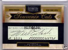 Weeb Ewbank 09 National Treasures Souvenir Cuts CUT SIGNATURE AUTO Card SP /10