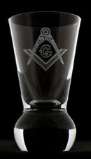 Masonic Square and Compasses (or your lodge banner) Firing Glass! FREE ENGRAVING