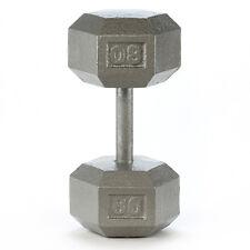 Barbell 80 lb Grey Cast Iron Hex Dumbbell Dumbbells Fitness Solutions LLC