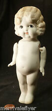 Antique Porcelain Bisque Blonde Flapper Doll Japan Kewpie Frozen Charlotte ?