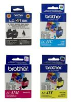 Brother LC41BK Black & LC41C-M-Y Colors Ink Cartridge Combo DCP-110C Genuine New