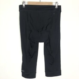 Terry Bike Capri Black Padded Bicycle Knickers Legging Quick Dry Cycling Size XL
