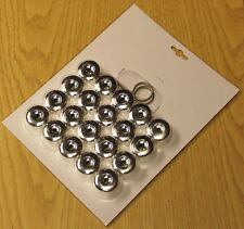 SEAT IBIZA LEON ALTEA EXEO CHROME WHEEL NUT BOLT COVERS LOCKING CAPS 17mm x 20