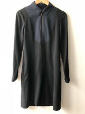 CUE size 6 black dress with navy front, good condition - good quality
