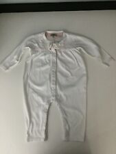 Armani Baby Girl, Playsuit baby grow White, Pink, Longsleeve, Age 12 Months M