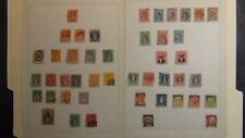 Chile antique stamp collection on homemade pages w/ 200 or so