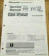 PIONEER GM-X562 POWER AMPLIFIER ORIGINAL SERVICE REPAIR MANUAL