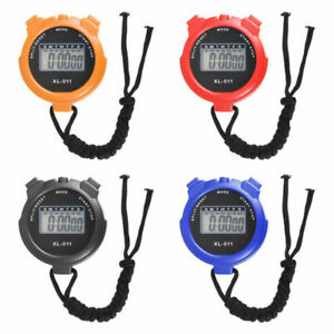 New Handheld LCD Digital Timer Stop Watch Sports Odometer Waterproof Stopwatch