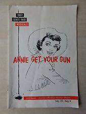 July/Aug. 1957 - State Fair Playbill - Annie Get Your Gun - Gisele MacKenzie