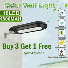 18LED Solar Power Dusk to Dawn Light Outdoor Pathway Street Wall Lamp Waterproof