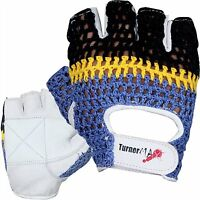 TurnerMAX Crochet Leather Weight Lifting Gloves for Body Building Training Gym