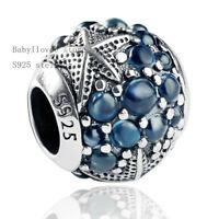authentic 925 sterling silver Oceanic Starfish Frosty charm fit European Charm
