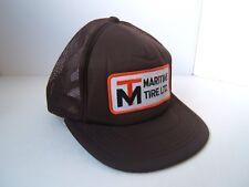 Maritime Tire Ltd Patch Hat Vintage Brown Snapback Trucker Cap