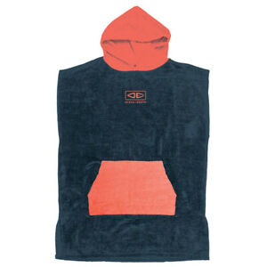 Ocean & Earth Youth Hooded Surf Poncho In Navy