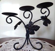 Chandelier METAL décoré de 3 feuilles pour 3 bougies Decoration Maison Ambiance