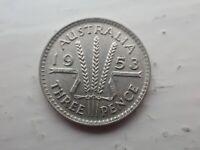 1953 Australian Threepence VF  (lot 704)