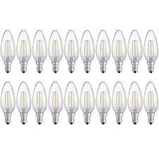 X20 LAMPADINA CANDELA 2W LED FILAMENTO E14 OLIVA LAMPADA LUCE CALDA 2700K