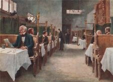 Dining-room of Cock Tavern, Fleet Street by Philip Norman. Vanished London 1905