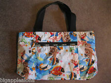 LESPORTSAC HAWAII REVERSIBLE PRINT TOTE BAG, FINE PRE-OWNED