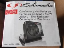 Schumacher 1224 12V 235W/150W Ceramic Heater and Fan provides instant heat