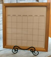 """Monthly Calendar, White and Wooden, Dry Erase (12""""X 12"""")"""