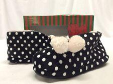 Pattig Women's Cozy Slippers Shoes, Black/White/Pink Size S