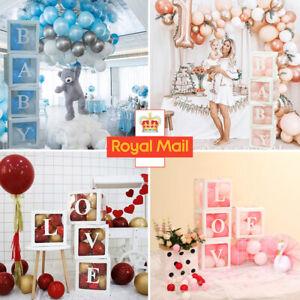 4PCS Wedding Baby Shower Transparent Balloon Box Birthday Party Decoration