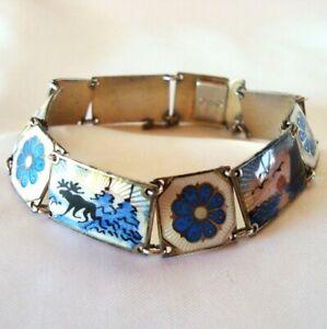 skandinavisches Emaille Armband 925 Silber emailliert enamel bracelet / CP 854