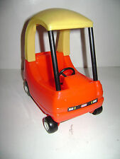Little Tikes Vintage Dollhouse Size Car COZY COUPE Vehicle Red Yellow USA