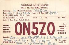 1963 VINTAGE QSL HAM RADIO CARD POSTCARD ON5ZO BRUSSELS BELGIUM