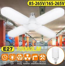10000lm 75W E27 Bright LED Garage Light Deformable Ceiling Fixture Workshop Lamp