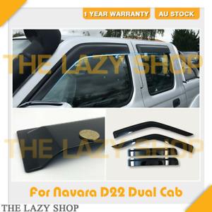 Weathershields, Weather shields for Nissan Navara D22 97-15 model Sun Visors #J