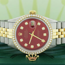 Rolex Datejust 2-Tone Gold/Steel 36mm Jubilee Imperial Red Diamond Dial & Bezel