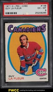 1971 O-Pee-Chee Hockey Guy LaFleur ROOKIE RC #148 PSA 6 EXMT