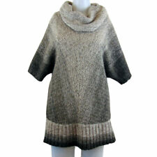 KENAR Batwing and Cowl Neck Wool Blend Pullover Size L (NEW)