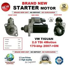 FOR VW TIGUAN 2.0 TDi 4Motion 170-bhp 2007-ON NEW STARTER MOTOR 2.0 kW 10 Teeth