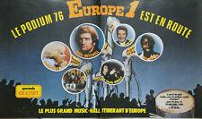 PUBLICITÉ DE PRESSE 1976 LE PODIUM 76 EUROPE 1 EDDY MITCHELL SOPHIE DAREL KAY