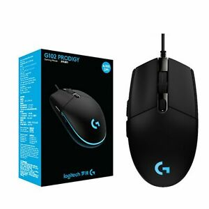 Logitech G102 Prodigy Custom LED Wired Gaming Mouse Package 8000dpi gaming mouse