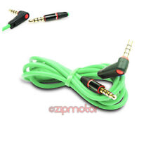4FT 3.5MM AUX L M/M AUDIO CABLE CORD GREEN FOR LG OPTIMUS G2 L9 HTC ONE MOTO X G