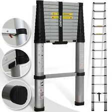 Masko® Teleskopleiter 3,80m Leiter Aluleiter Anlegeleiter Mehrzweckleiter NEU