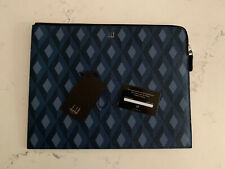 Dunhill Leather Cadogan Zip Folio Engine Turned RRP £495 Large