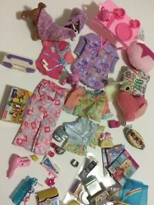 Barbie Hugh WEE 3 Three FRIENDS 57 Pc Set Pjs Pillows Bear Dogs Games Lollipops