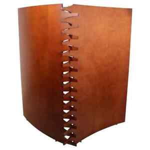 Contemporary Modern Wood 2 Panel Room Divider Screen by Arkitektura 1980s