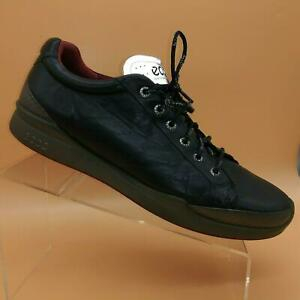 Ecco Biom Hybrid 2 Black Leather Lace Up Spikeless Golf Shoes Mens 45 US 11-11.5