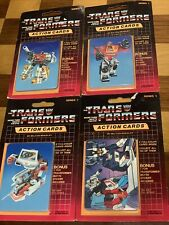 1985 G1 Transformers Action Trading Cards 4 sealed vintage pack Blaster Ratchet
