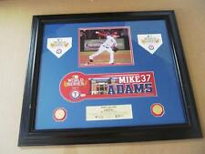 2011 World Series Nameplate - Mike Adams - Texas Rangers - 1 of 1 - Authentic
