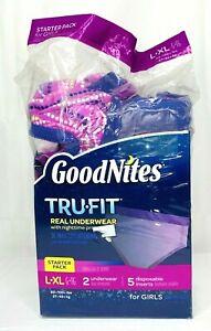 GoodNites Tru-fit Real Underwear Girls L-XL Starter Pack NEW OPEN Please Read