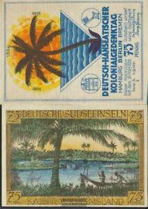 Berlin Notgeld: 88.1 Bild 2 Deutsche Südseeinseln Notgeld des Dt.-H bankfrisch 1