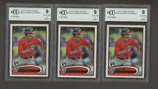 LOT (3) 2012 Topps Update Bryce Harper Nationals RC Rookie BCCG 9